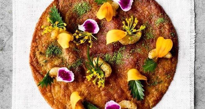 Une tostada aux larves et à l'épinette. Photo: Instagram Nordic Food Lab