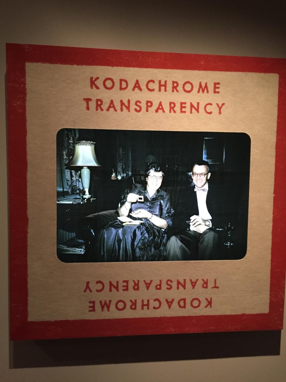 Agrandissement d'une diapo Kodachrome. Photo: Claude Deschênes