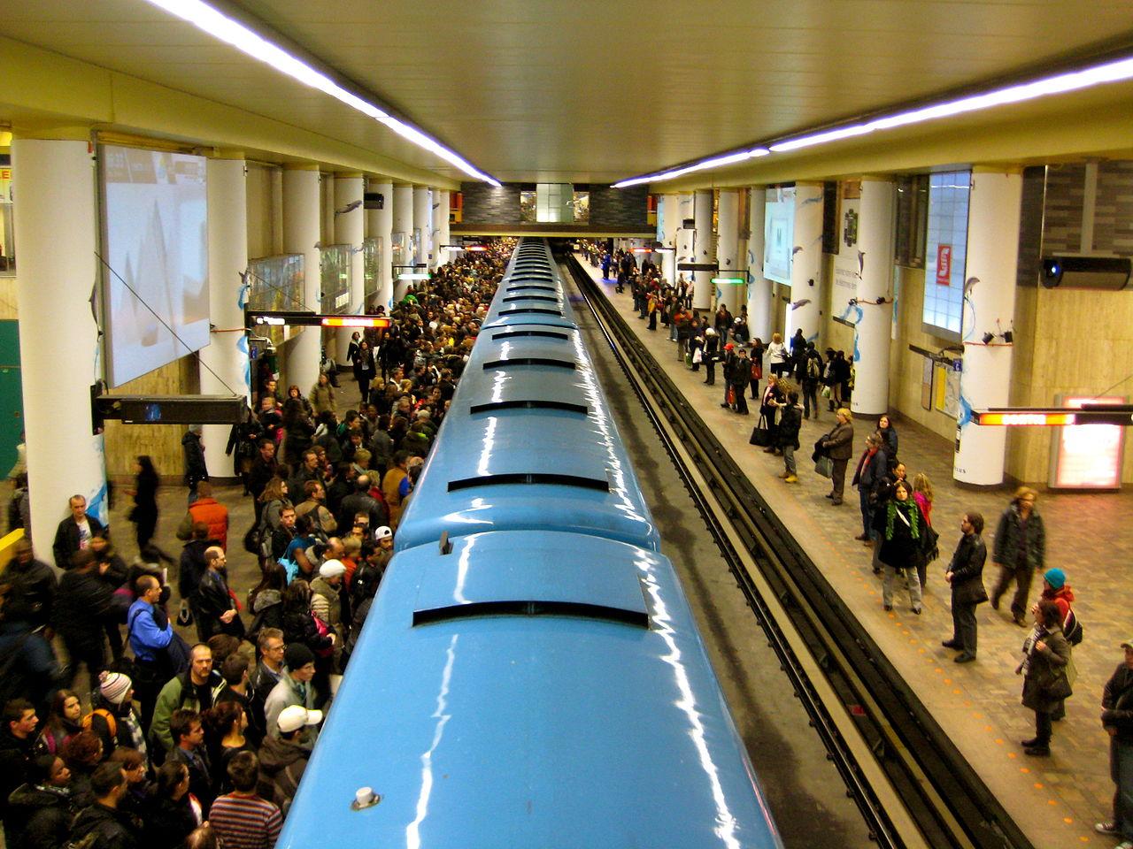 Le métro de Montréal Photo: Wikimedia