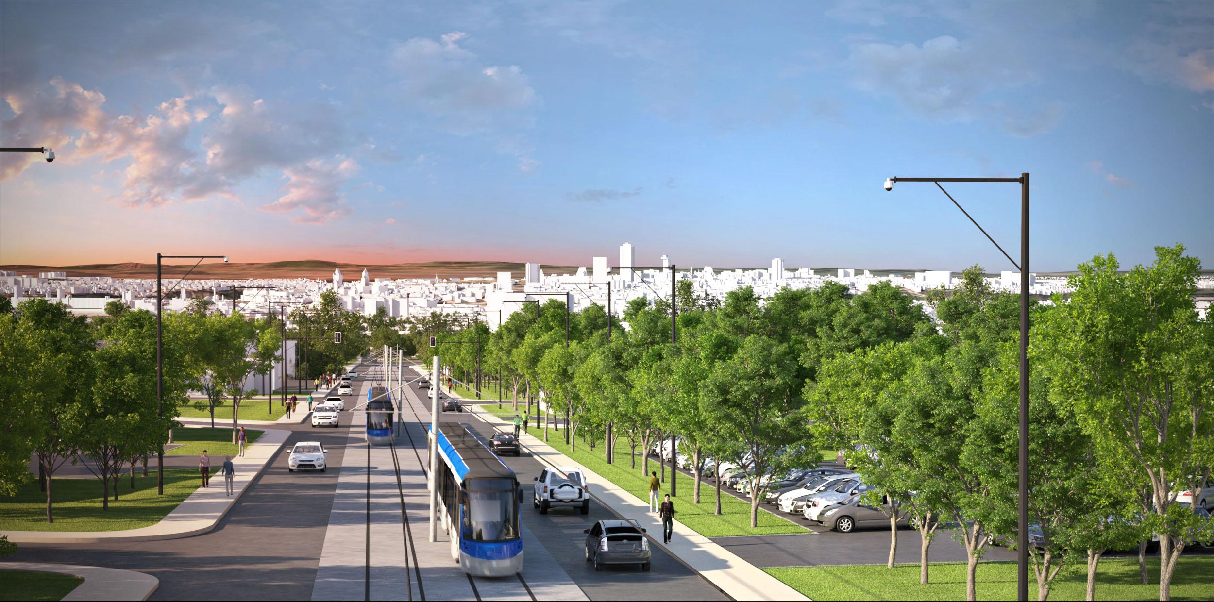 Maquette du tracé des tramways du projet de transport à Québec Photo: Réseau de transport de la Capitale