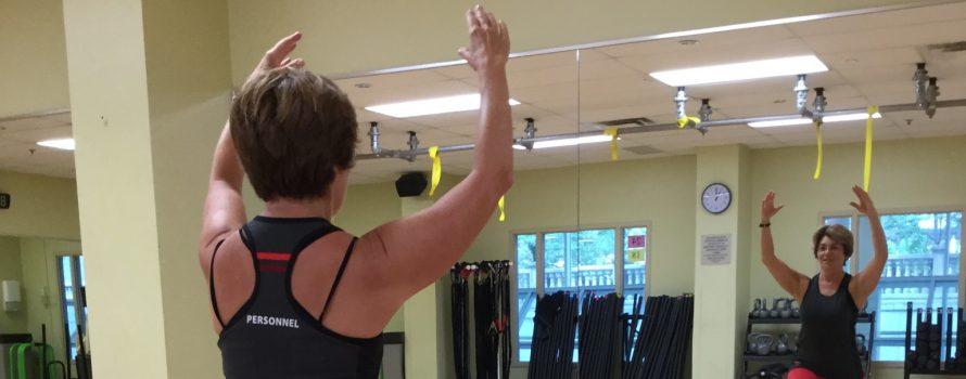 Diane Laflamme en pleine action au YMCA.