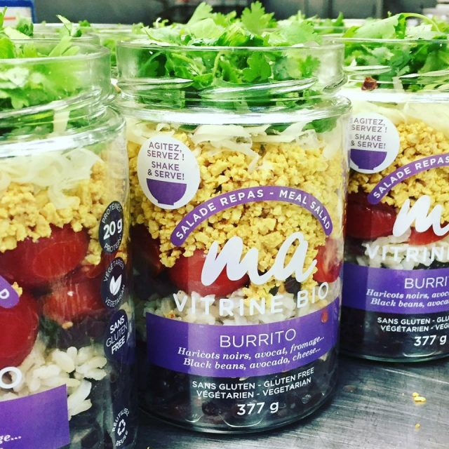 Les salades repas de la compagnie Urban Picnik. Photo: Facebook Urban Picnik