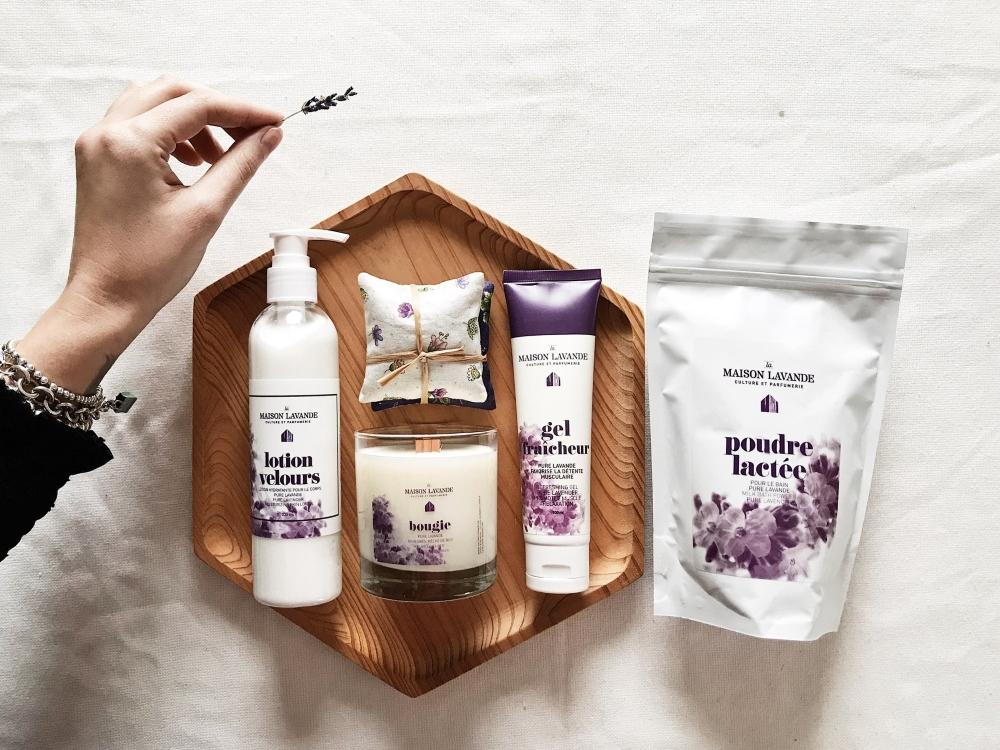 Un échantillon de la vaste gamme de produits développés par Nancie Ferron et son équipe de La Maison Lavande. Photo: Facebook La Maison Lavande