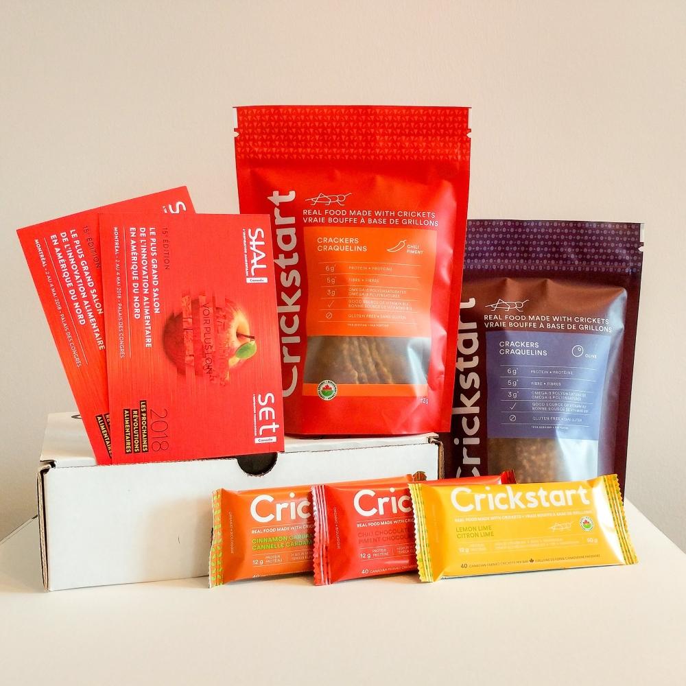 Des produits à base de farine d'insectes. Photo: Facebook Crickstart