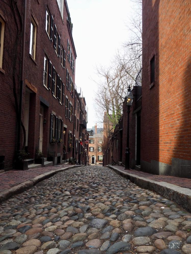 Acorn Street, considérée comme l'une des plus jolies rues de Boston. Photo: Marie-Julie Gagnon