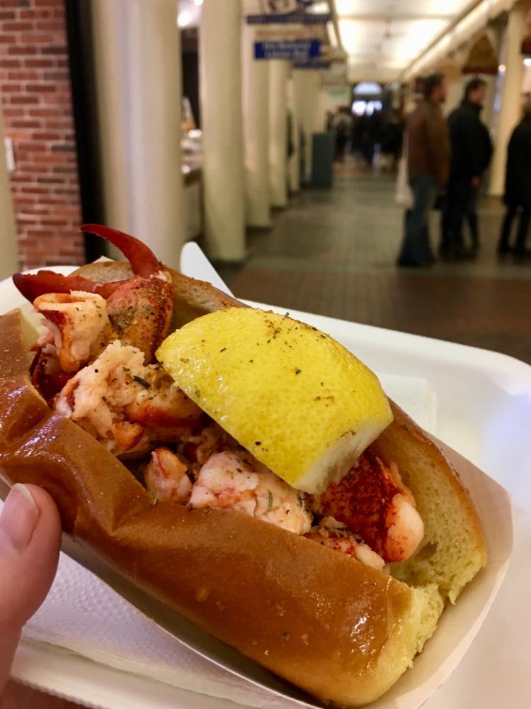 Guédille au homard du Quincy Market. Photo: Marie-Julie Gagnon