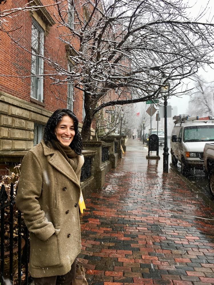 Marie-Josée Duquette, auteure d'Une Québécoise à Boston. Photo: Marie-Julie Gagnon
