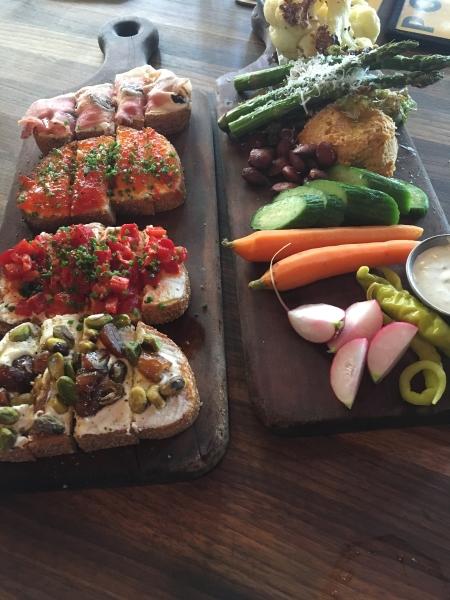 Planches de dégustation du restaurant Postino. Photo: Véronique Leduc