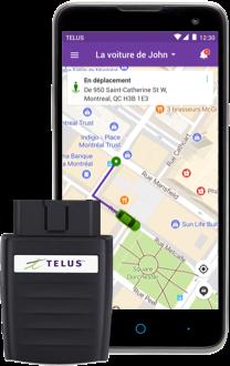 L'adaptateur Voiture+ pour les abonnés de Telus se contrôle à l'aide d'une application mobile.