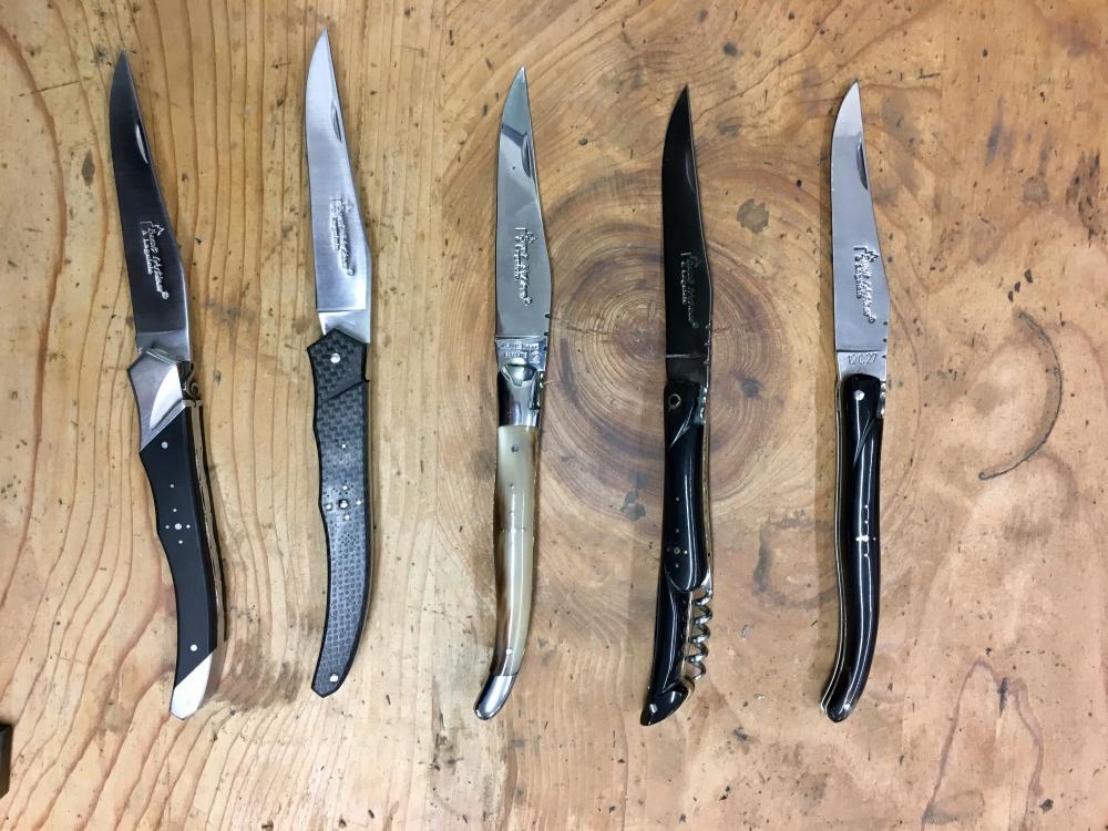 Ces couteaux peuvent être bons pour plusieurs générations. Photo: Marie-Julie Gagnon