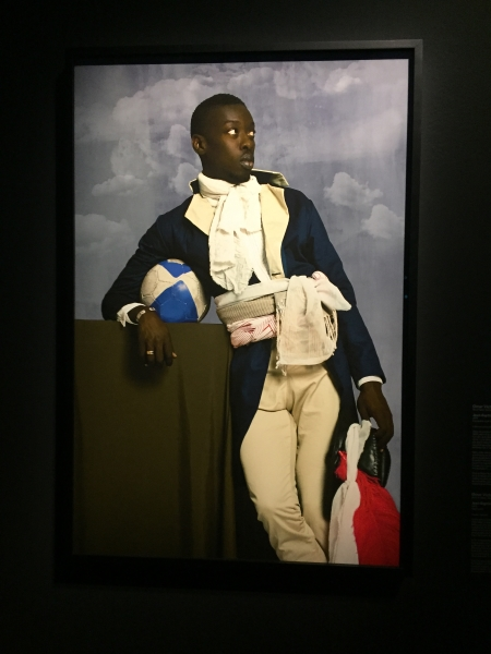 Omar Victor Diop (né en 1980), Jean-Baptiste Belley, 2014, impression à jet d'encre. Collection particulière. Photo: Claude Deschênes