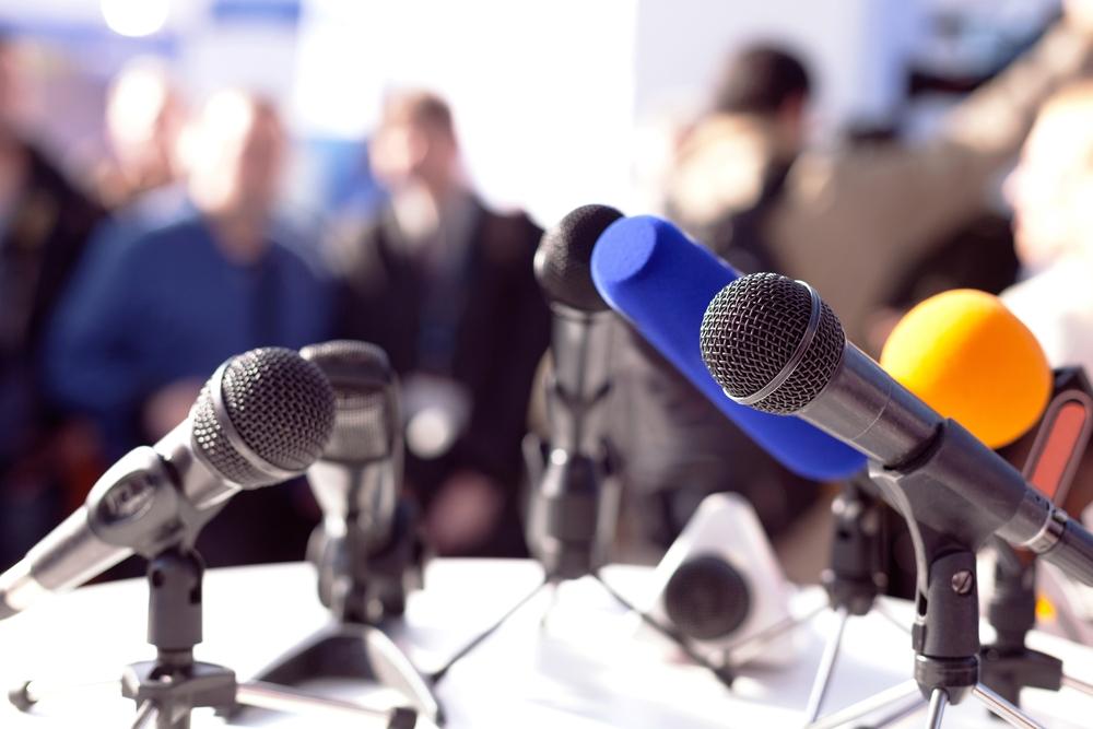 Photo: conférence de presse, Shutterstock