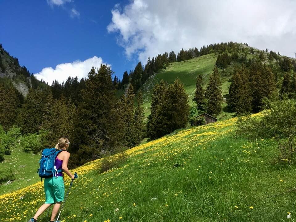 En randonnée dans les Alpes. Photo: Anne Pélouas