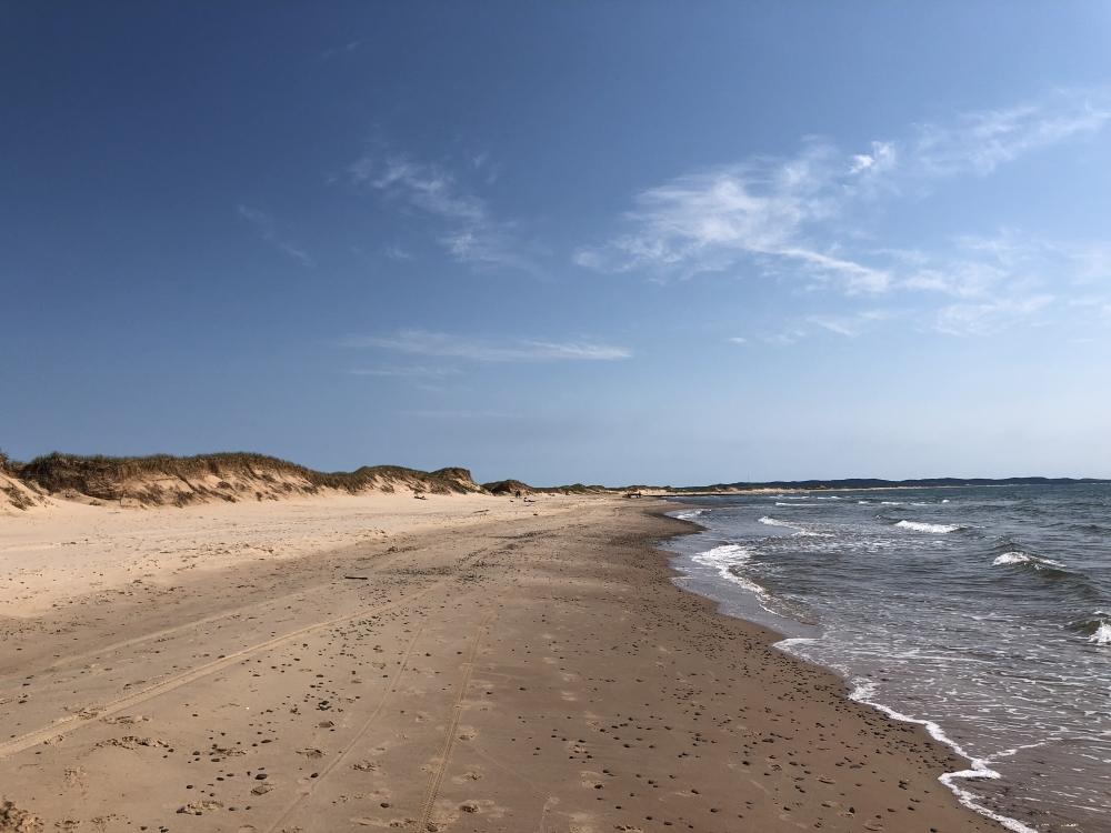 Plage de la Dune de l'Ouest. Photo: Marie-Julie Gagnon