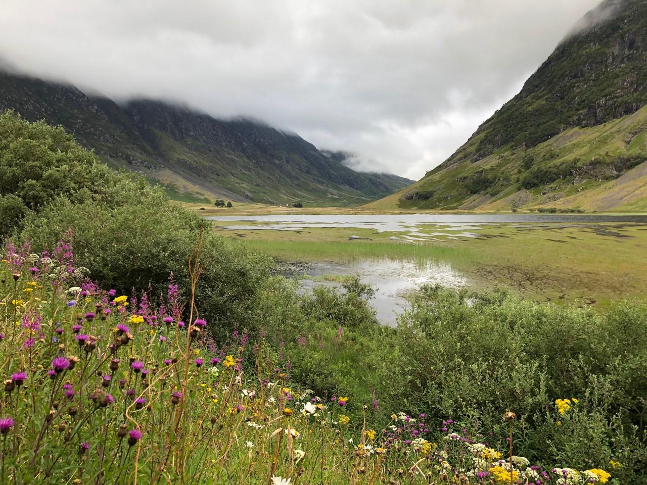 Un des nombreux paysages quasi surnaturels de Glencoe. Photo: Marie-Julie Gagnon