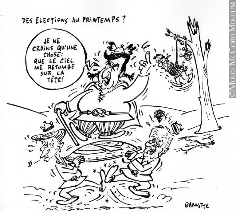 Caricature de Garnotte (alias Michel Garneau).Don de M. Michel Garneau.© Musée McCord