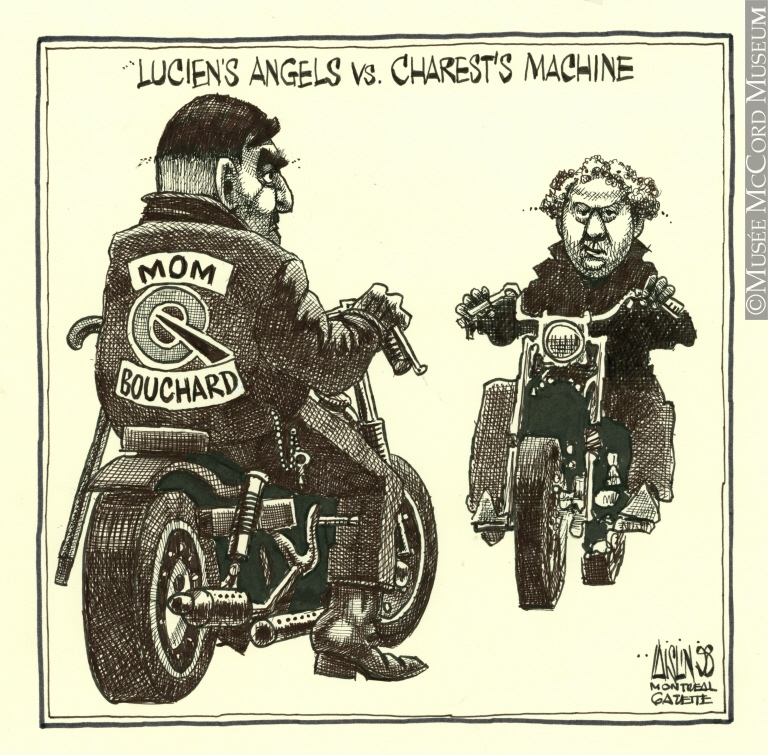 Caricature d'Aislin (alias Terry Mosher). Don de M. Terry Mosher. © Musée McCord