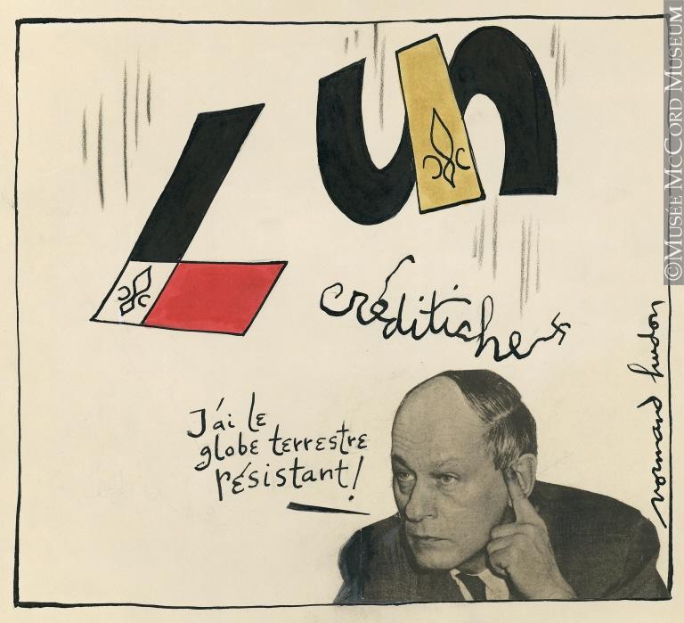 Caricature de Normand Hudon.Don de Mme Arlette Hudon.© Musée McCord