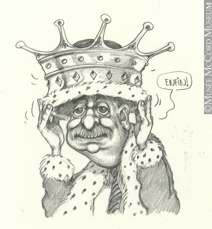Caricature de Serge Chapleau.Don de Serge Chapleau.© Musée McCord