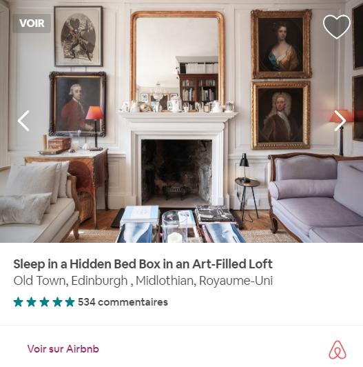 On en trouve de tous les goûts à Édimbourg sur Airbnb. Photo: airbnb.fr