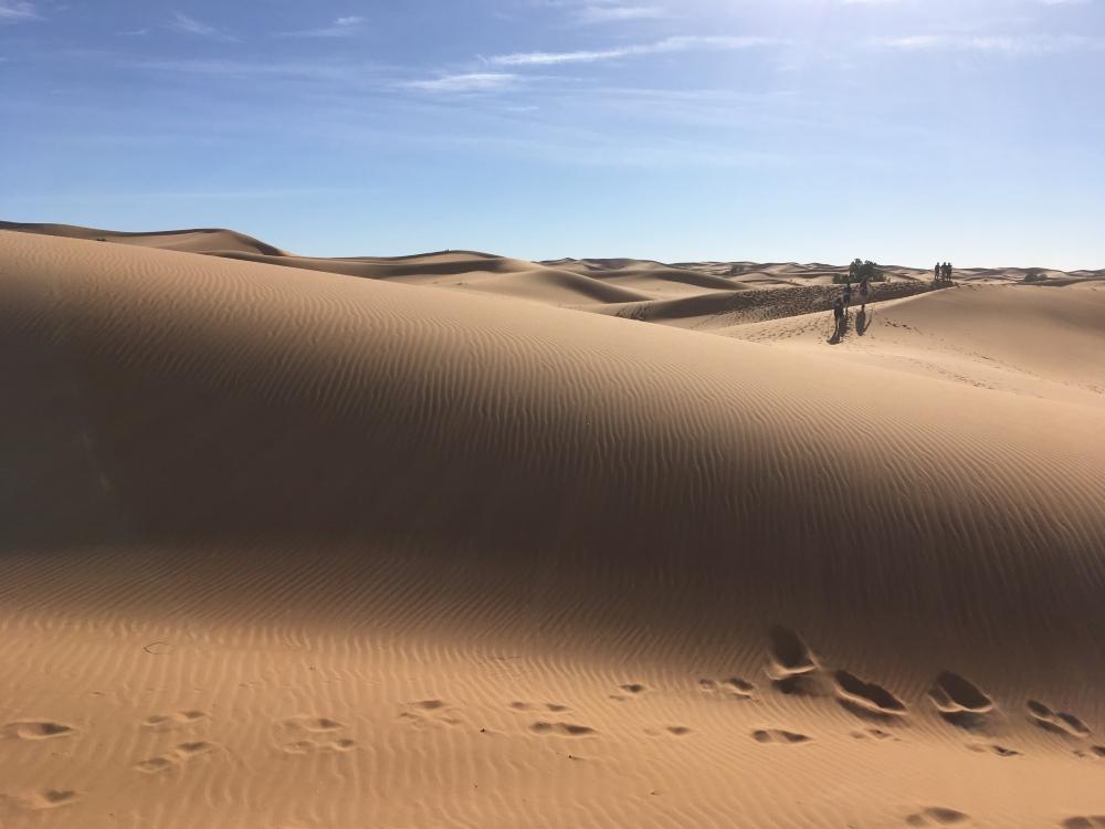 Jour 2, devant nous, des dunes à perte de vue. Photo: Véronique Leduc