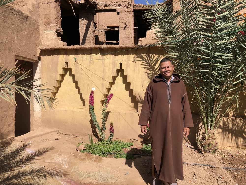Hussein Achabak, propriétaire de la Kasbah Timidarte. Photo: Marie-Julie Gagnon